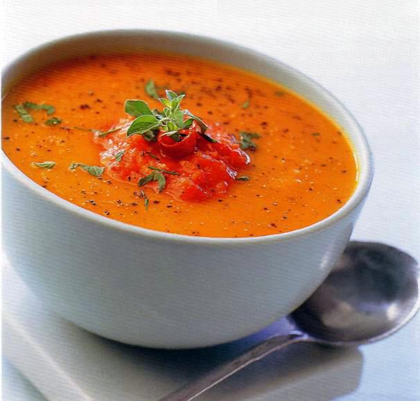 Суп из печеной тыквы рецепт