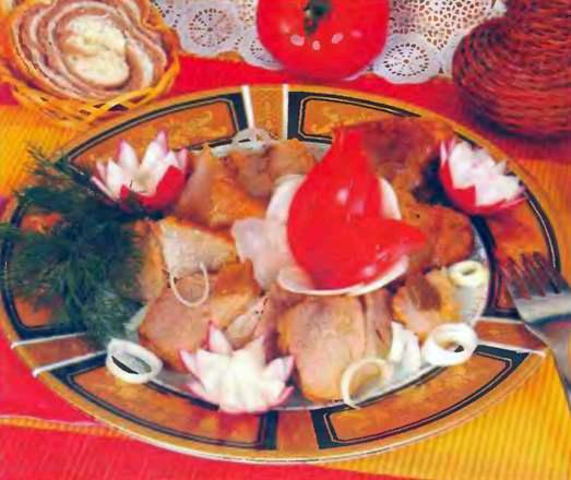 Свинина запеченная с соевым соусом
